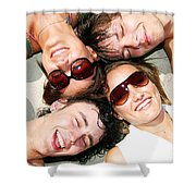 Young Friends Together Shower Curtain