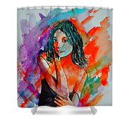 Young Girl 52622 Shower Curtain