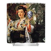 Young Japanese Lady Shower Curtain