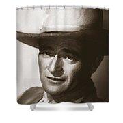 Young John Wayne Painting Traditional Shower Curtain