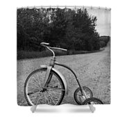 Young Kid Old Road  Shower Curtain