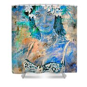 young lady in Papeete Shower Curtain