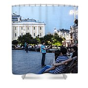 Young Lovers And Other Strangers - Moscow- Russia Shower Curtain