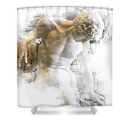 Young Man Shower Curtain