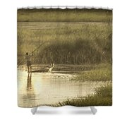 Young Man On The Nile Shower Curtain