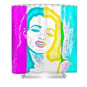 Young Marilyn Soft Pastels Impression Shower Curtain