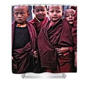 Young Monks II Shower Curtain