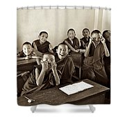 Young Monks Shower Curtain