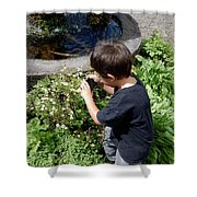 Young Photographer Shower Curtain