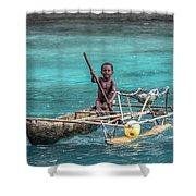 Young Seaman Shower Curtain