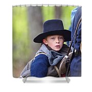 Young Solider Shower Curtain
