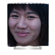 Young Thai Girl Shower Curtain