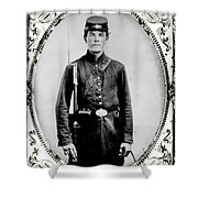 Young Union Soldier Shower Curtain