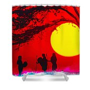 Young Warriors Shower Curtain