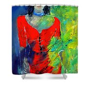 Young Woman 6431 Shower Curtain