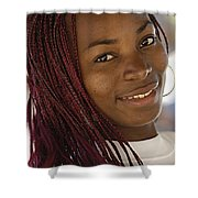 Young Woman Costa Rica Shower Curtain