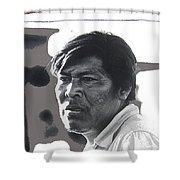 Young Yaqui Man New Pascua Arizona 1969 Shower Curtain