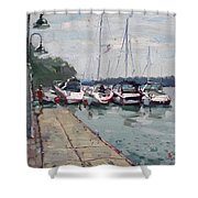 Youngstown Yachts Shower Curtain