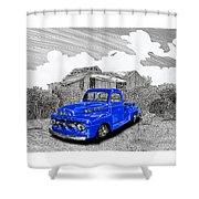 Your 1952 F 100 Pick Up In N M  Shower Curtain