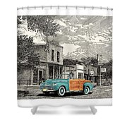 1946 Ford Sports Man Convertible  In Hillsboro N M  Shower Curtain