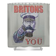 Your Country Needs You Shower Curtain