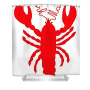 York Maine Lobster With Feelers Shower Curtain