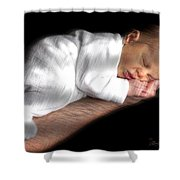 You're In Good Hands -  Featured In 'comfortable Art' And Notecard Possibilities Groups Shower Curtain