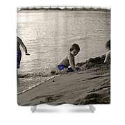 Youth At The Beach Shower Curtain