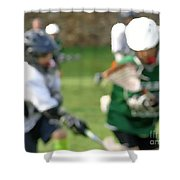 Youth Lacrosse Shower Curtain