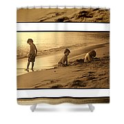 Youth Tryptich Shower Curtain