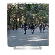 Yoyogi Park Shower Curtain