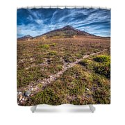 Yr Eifl Trail Shower Curtain by Adrian Evans