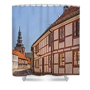 Ystad Crescent Street Shower Curtain