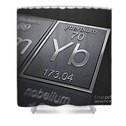 Ytterbium Chemical Element Shower Curtain