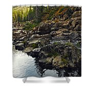Yuba River Rocks Shower Curtain
