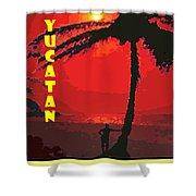 Yucatan Caribbean Shower Curtain