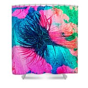 Yucca Abstract Pink Blue Green Shower Curtain