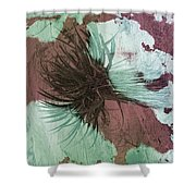 Yucca Abstract Sage And Mauve Shower Curtain