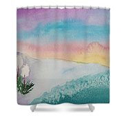 Yuccas At Dawn Shower Curtain