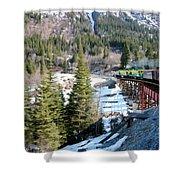 Yukon Railroad 3 Shower Curtain