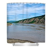 Yukon River As It Heads Northeast To The Arctic Circle-yt Shower Curtain