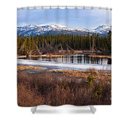 Yukon Taiga Wetland Marsh Spring Thaw Canada Shower Curtain