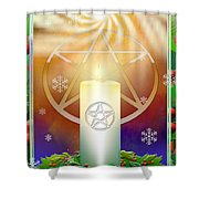 Yule Sun Shower Curtain