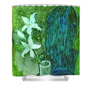 Yupo Flower On Chair Shower Curtain