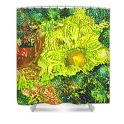 Yupo Flower2 Shower Curtain