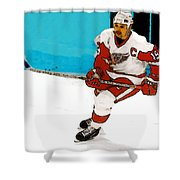 Yzerman Stick Shower Curtain