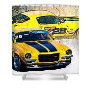 Yellow Z28 Camaro Shower Curtain