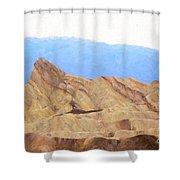 Zabriskie Point Shower Curtain