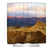 Zabriskie Point Sunrise Death Valley Shower Curtain