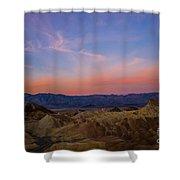 Zabriskie Point Sunrise Shower Curtain
